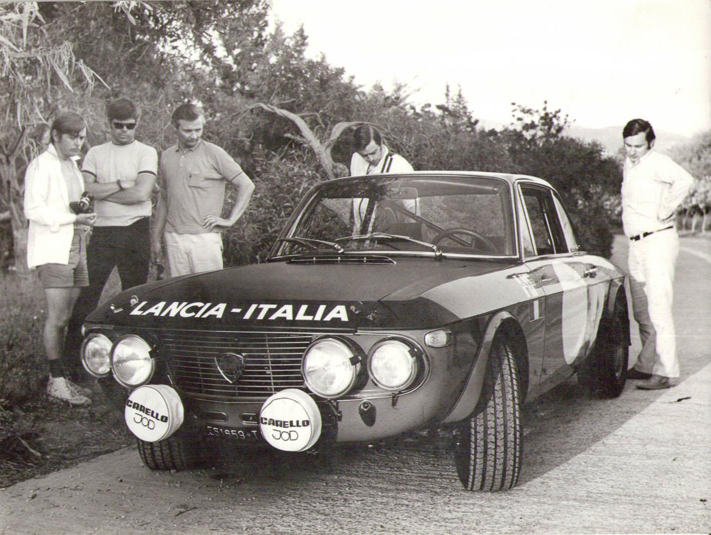 60- ja 70-lukujen taitteessa Simon tie vei Lancia Fulvian rattiin.